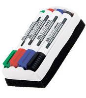 Набор маркеров для доски с резинкой 4 цвета ВМ-8800-84
