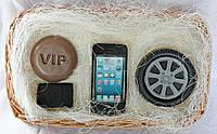 """Мыло ручной работы """"Набор: vip, зажигалка Jack Daniels, колесо, телефон IPhone"""""""