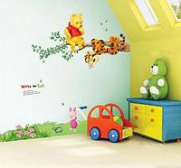 Наклейки  для детской комнаты Винни и Тигра (лист 50*70см) 90*90см