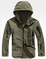 Флисовая куртка цвета хаки