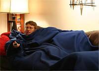 Плед (одеяло) с рукавами, синий