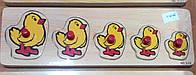 Деревянная рамка-вкладыш Цыплята (от 18 мес.)