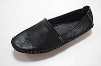 Модные женские кожаные мокасины (черный)