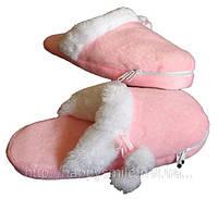 USB розовые тапочки с подогревом, оригинальный гаджет - подарок для девушки, USB heating slippers
