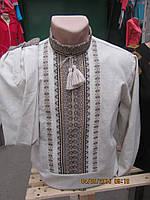 Мужская вышиванка на длинный рукав лен