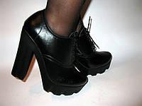 Ботильоны на шнурке толстый каблук