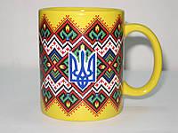 Чашка с украинским орнаментом