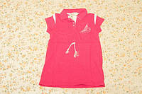 Детское платье для девочки малиновое повседневное, 4-5 лет, р.104