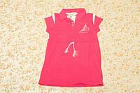Платье для девочки малиновое повседневное, 5-6 лет, р.110