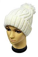 Белоснежная универсальная зимняя шапка