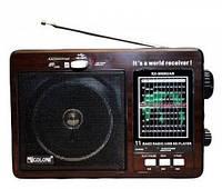 Радиоприемник GOLON RX-9966 UAR MP3/USB/SDcard Громкий звук FM/AM/SW работает от сети встроенный аккумулятор