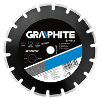 Диск 57H614 Graphite алмазный сегментный 350 х 25.4 мм, для резки асфальта, лазерная сварка