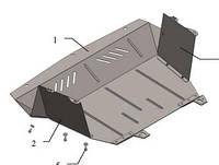 Защита поддона двигателя Fiat Doblo пластик