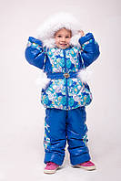 """Верхняя одежда, детская зимняя, комбинезон/комплект для девочки с отстегивающимся капюшоном """"Диана"""""""