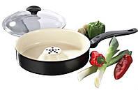 Сковорода Делимано Драй Кукер (Dry Cooker) со съемной ручкой для приготовления вкусной и здоровой пищи