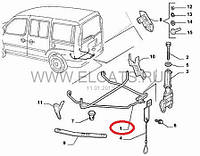 Устройство поддержки запасного колеса Doblo 2000-2011 51765953