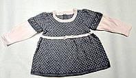 Платье вязаное  для девочки,6-12 месяцев