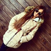 Женская зимняя куртка-парка (черная, бежевая)