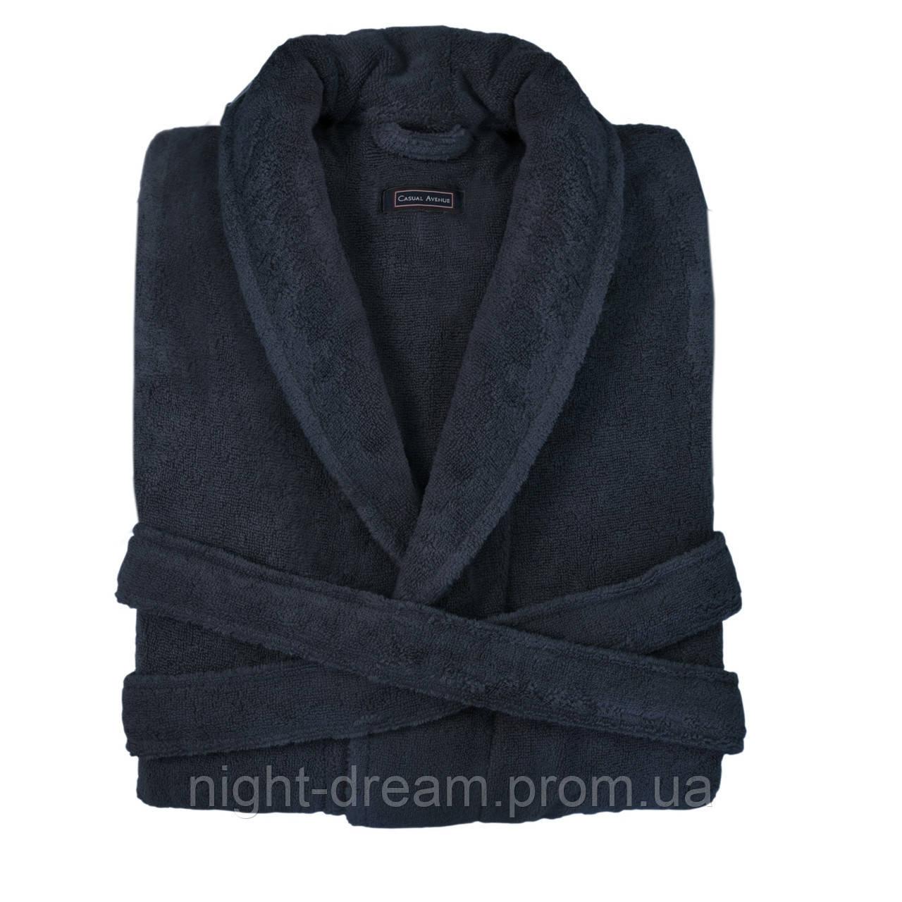 Женский махровый халат CASUAL AVENUE Chicago DEEP BLUE синий размер L
