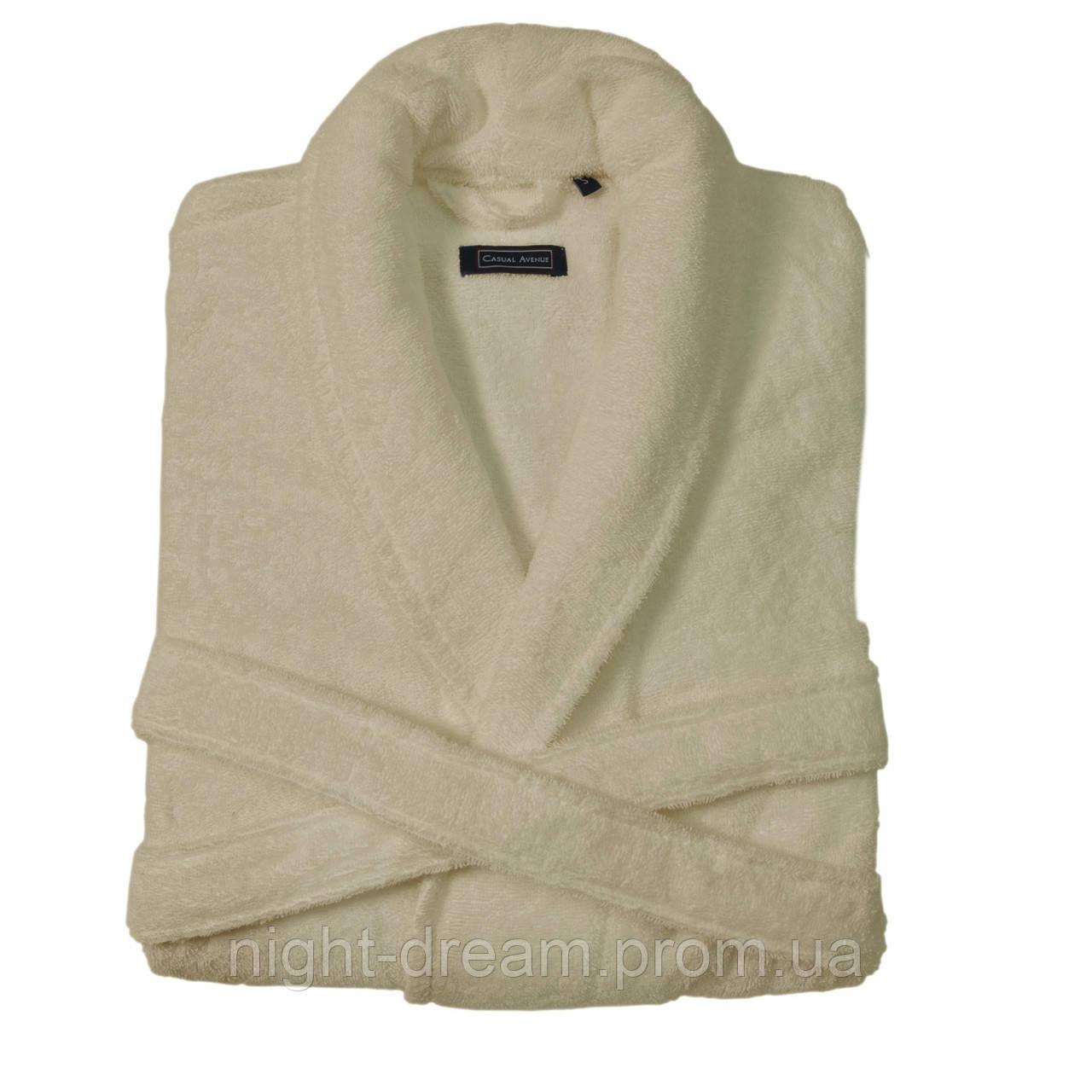 Мужской махровый халат CASUAL AVENUE Chicago IVORY кремовый размер XL