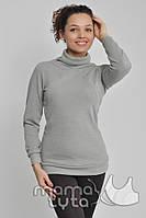 Пуловер на змейках Серый жемчуг для беременных и кормящих мам - С, М, Л
