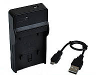 Зарядное устройство c micro USB для камер SONY NEX-3, NEX-5, SLT-A33, SLT-A55, SLT-A35, SLT-A37 (акб NP-FW50)