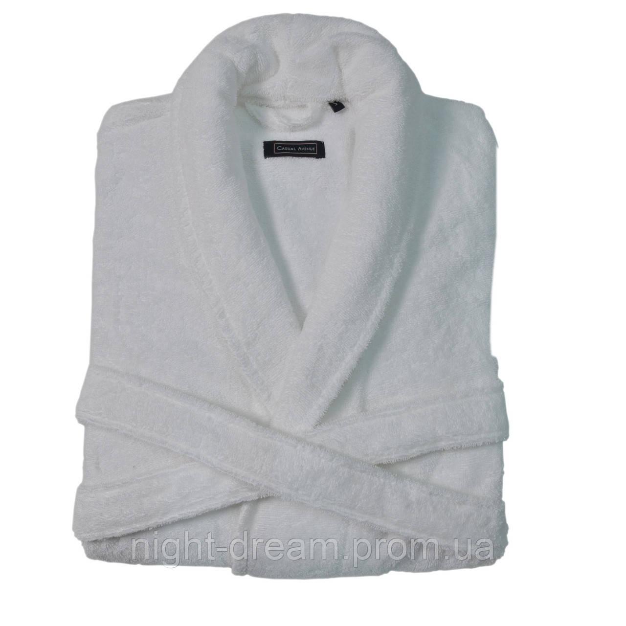 Мужской махровый халат DOWNTOWN  White размер L