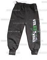 Детские спортивные брюки на флисе теплые штаны