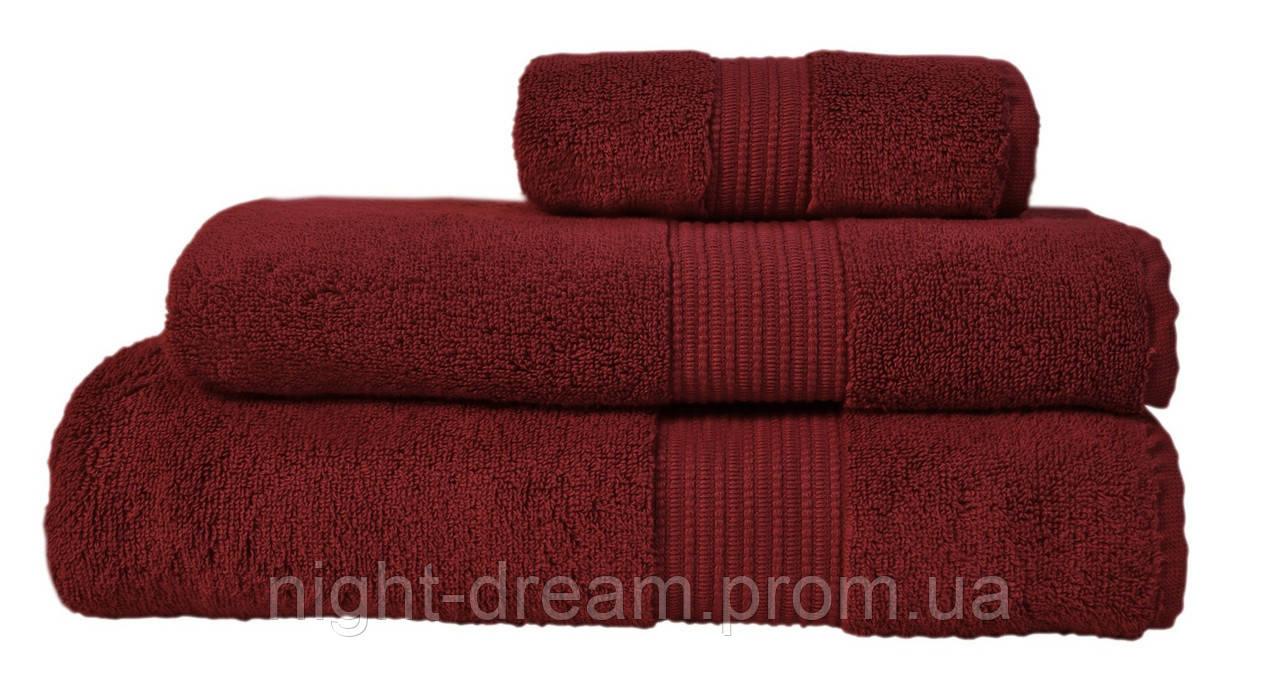 Махровое полотенце 70х140 Chicago RED WINE из гидрохлопка