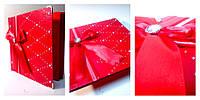 Книга для пожеланий свадебная красная 22 х 22 см.
