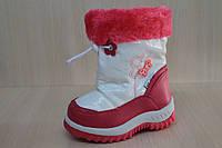 Сапожки дутики на девочку, детская зимняя обувь, теплые сапожки тм Брис босфор р.25,27,28,29