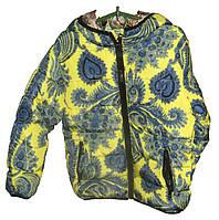 Женская куртка цветы детская