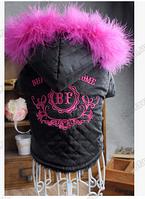 Курточка BF для собаки меховая черная