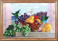 Схема для вышивки бисером Груши с виноградом КС-005