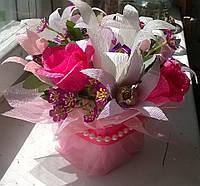 """Композиция букет цветы из конфет """"Лилия"""""""