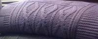 Плед 200х220 акриловый вязанный Eke Home HISAR дымчато-фиолетовый