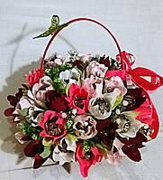 """Композиция букет цветы из конфет """"Весенний мотив"""""""