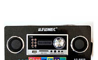 Портативная акустическая система Alfasonic AS-8809 аудио-вход 3,5 мм и USB-вход отображаются часы и будильник
