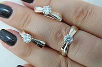 Нежные украшения из серебра 925 пробы и золота в наборе