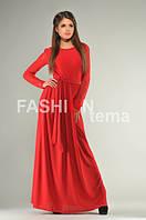 Платье женское Невеста красное ткань масло гипюр