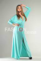 Платья женское из кристалла лазурного цвета