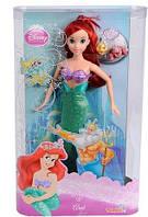 Кукла Русалочка Ариэль, рыбка Флаундер и краб Себастьян принцесса Дисней Disney Princess