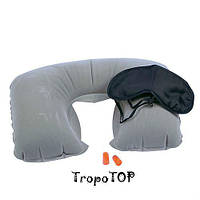 Набор для сна Крепкий сон: подушка (надувная) ,маска , беруши