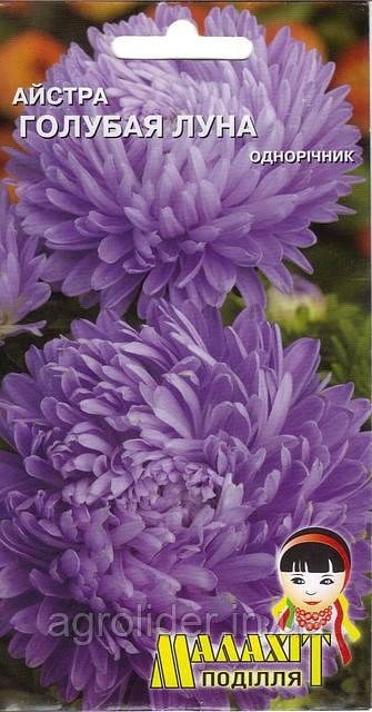 Семена цветов Астра Голубая луна 0.5г (Малахiт Подiлля)