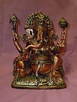 Декоративная статуэтка фен шуй фигурка Ганеша -мальчик с головой слона 19 см высота