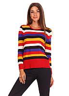 Цветная женская кофточка  с круглой горловиной, фото 1