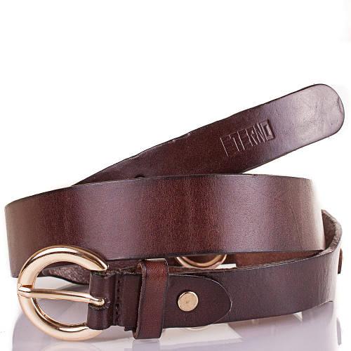 Женский кожаный ремень ETERNO (ЭТЕРНО) ETS2096-10 коричневый