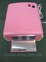 УФ лампа для наращивания ногтей на 36 Вт с таймером, все регионы Украины розовая