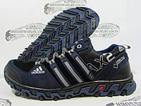 Кроссовки мужские Adidas Gore-Tex, синие с чёрным