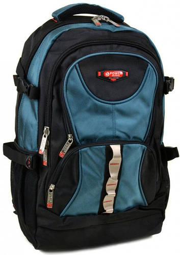 Удобный городской рюкзак из нейлона  Power In Eavas 38 л. 8704 light-blue, светло-синий